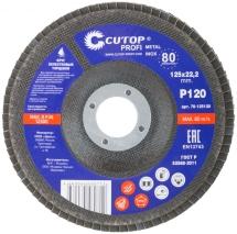 Круг лепестковый торцевой Cutop Profi (80 лепестков): 125 х 22,2 мм, Р120